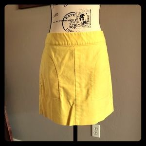 Banana Republic Yellow Pencil Skirt